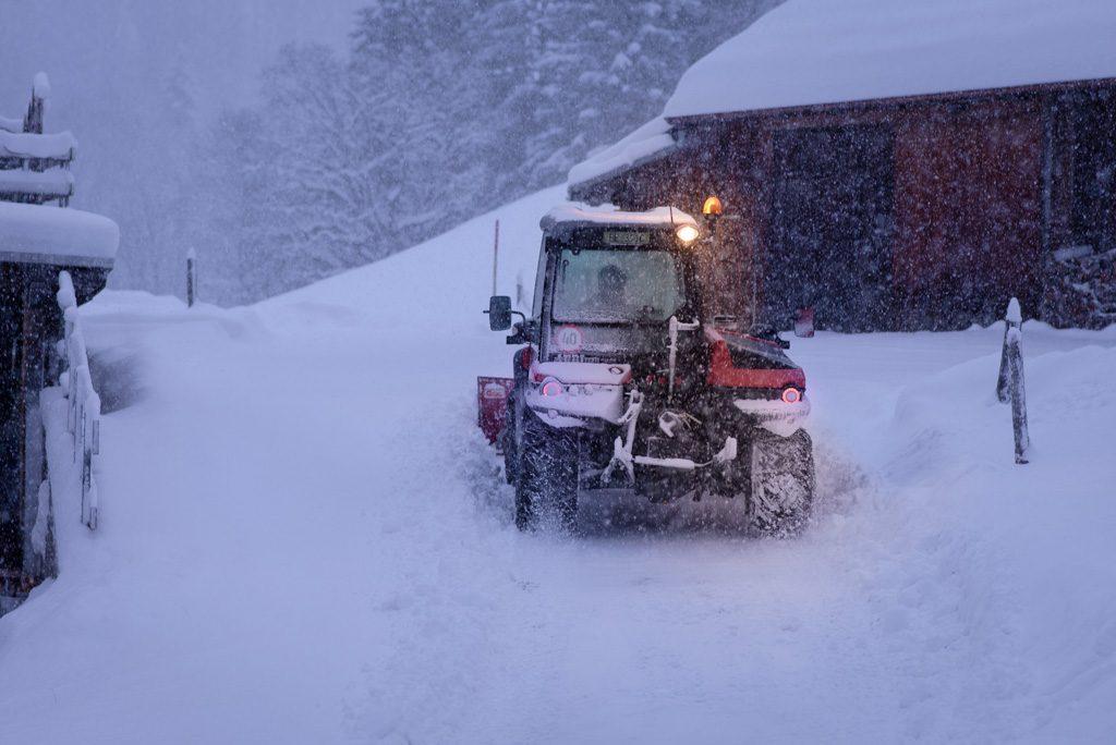 Schneefall in der Schweiz