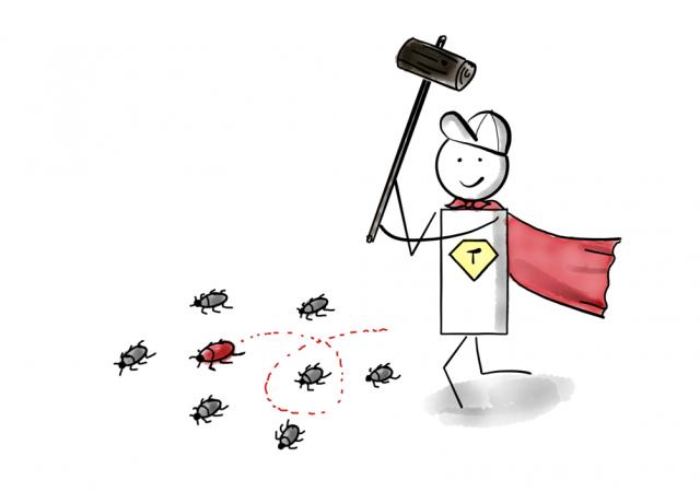 Fehler in Software - Tester finden Bugs