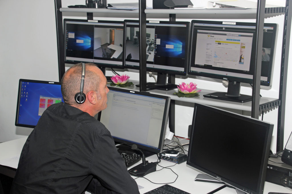 Im Beobachtungsraum des Usability-Labors
