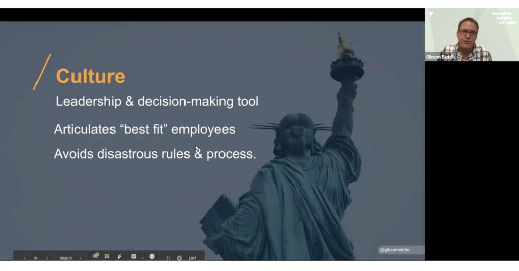 Gibson Biddle, ex VP Product bei Netflix an den Executive Insights on Agile